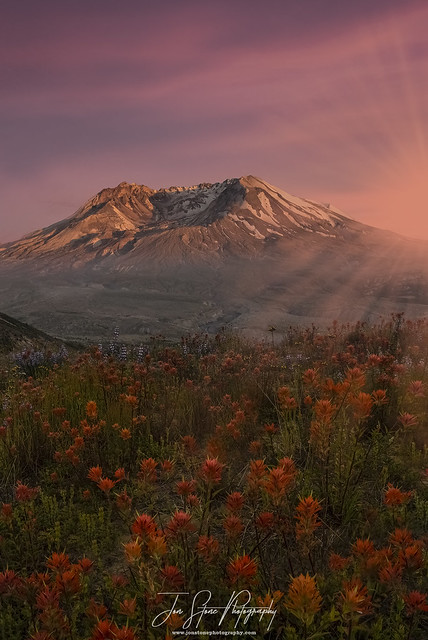 Sunset at Mt. St. Helens