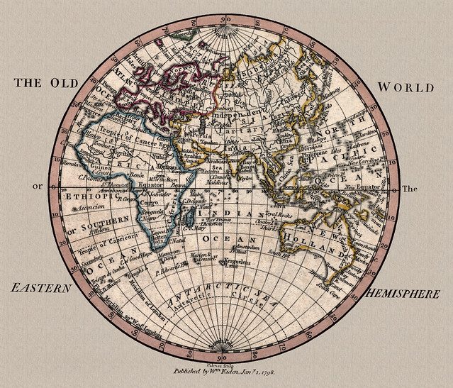 Old World Map Eastern Hemisphere 1798