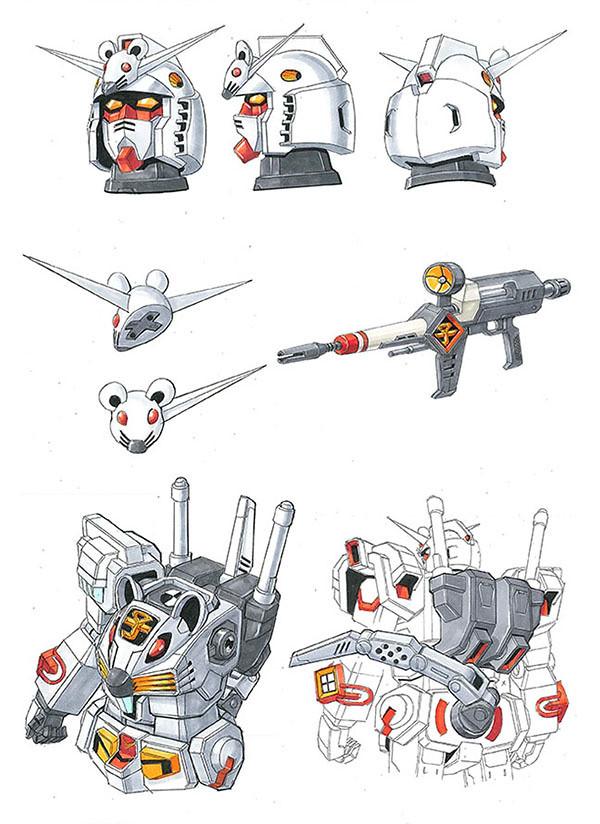 由《機動戰士鋼彈》大河原邦男設計   十二生肖鋼彈新作「子鼠鋼彈」設定圖公開