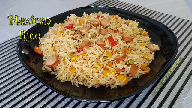 How To Make Mexican Rice in Indian Style / Mexican Rice Recipe / Lunch Box Recipes /Shobanas Kitchen