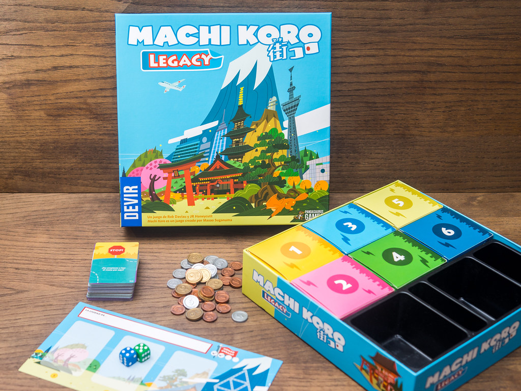 machi koro legacy juego boardgame