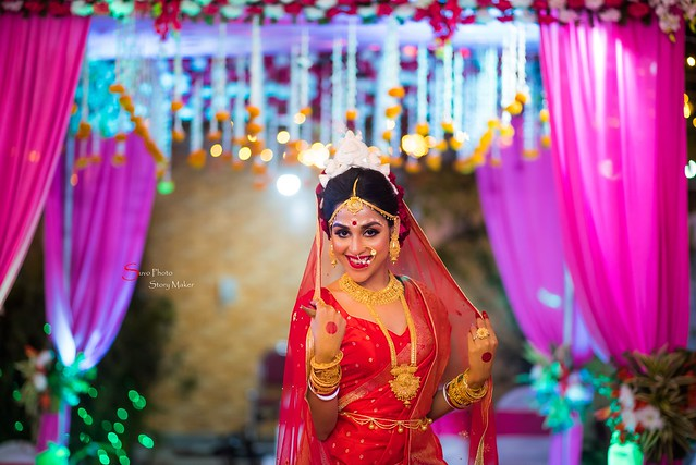 Bengali Bride Beautiful , Bride Swagata On Her Wedding Day
