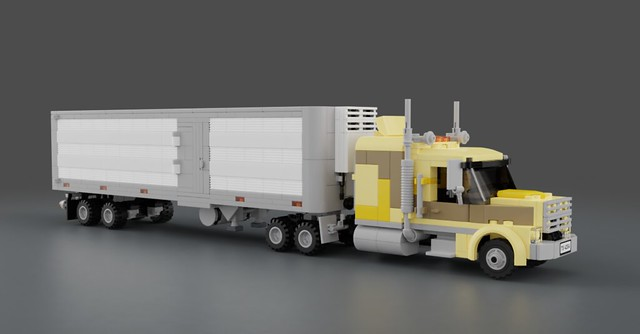 LEGO 7686 MOD «Coyote» with Refrigerated Semi-trailer