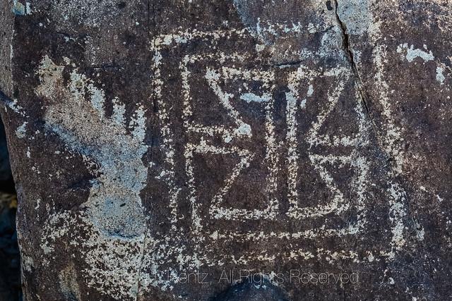 Geometric Rock Art at Three Rivers Petroglyph Site