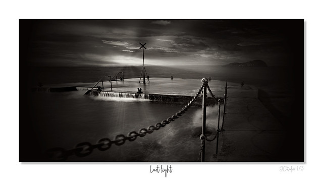 Last light. mono framed