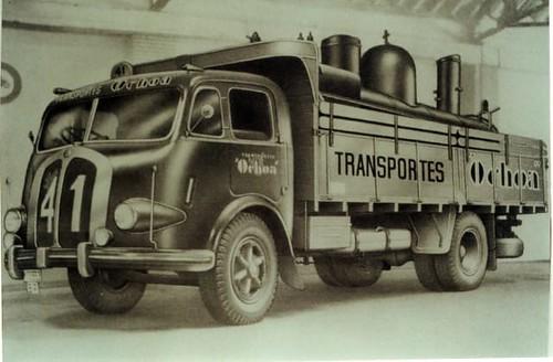 camió carregat locomotora Transports Ochoa