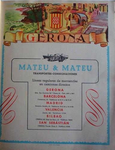 Publicitat Transports Mateu i Mateu 1955
