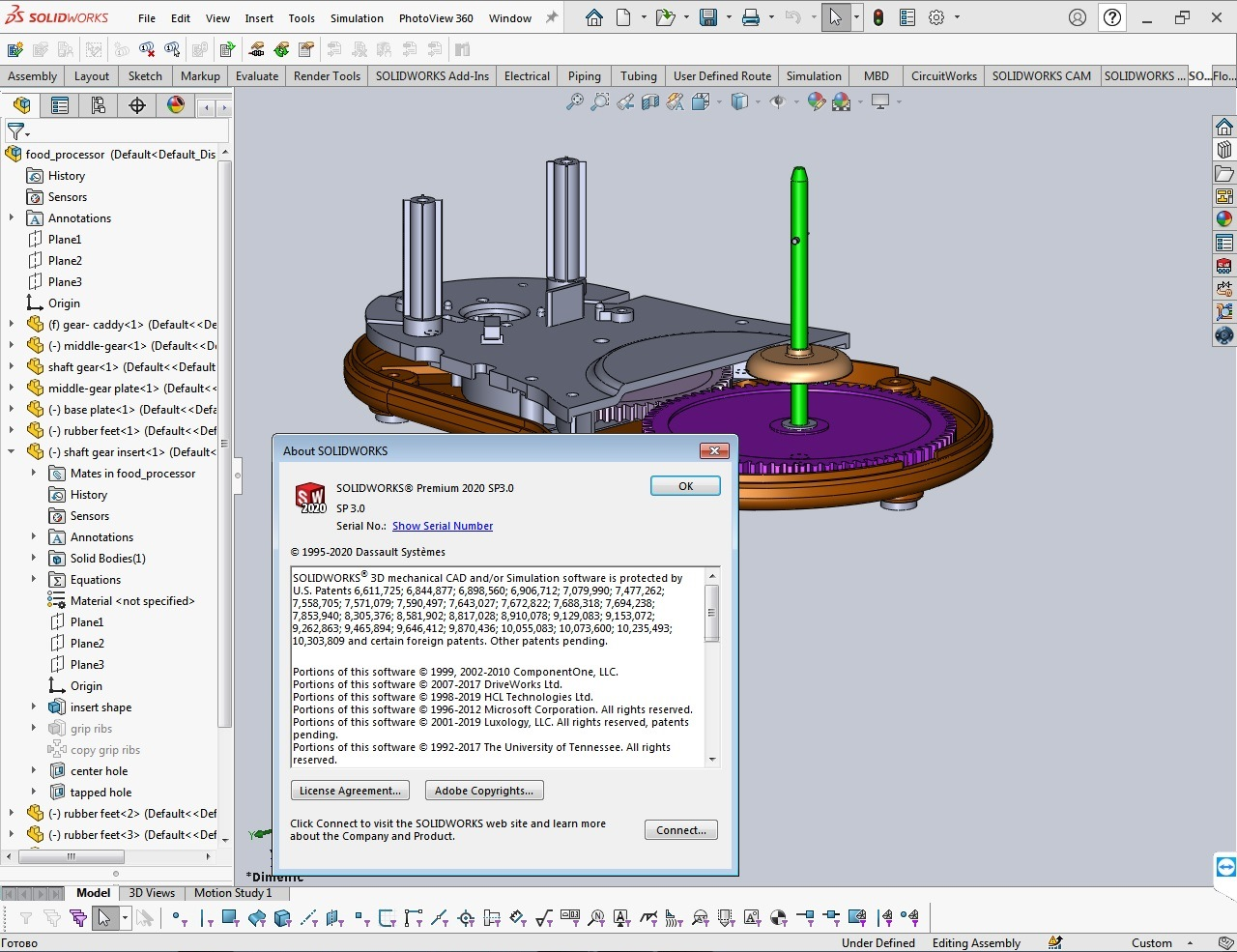 Working with SolidWorks 2020 SP3.0 full license