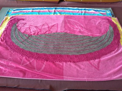 Rita finished two shawls designed by Joji Locatelli! This one is Ebba's Garden Shawl.
