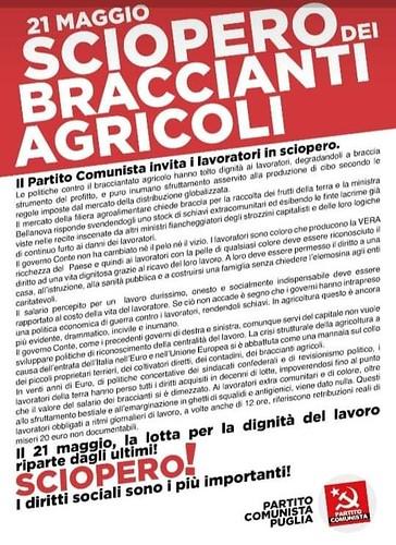 sciopero braccianti agricoli