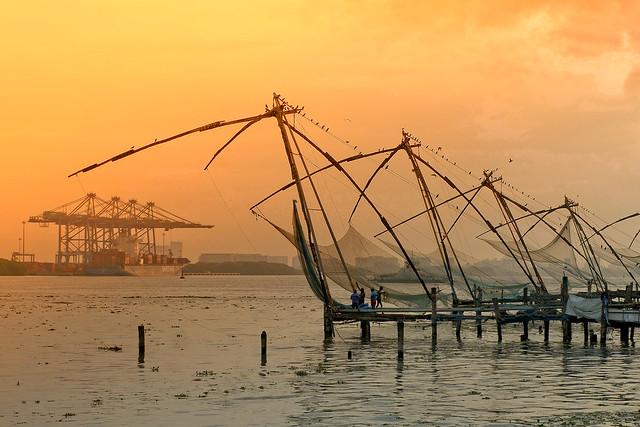 Filets de pêcheurs chinois (Cochin)