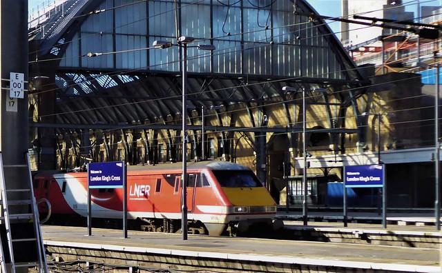 LNER 91116 at London Kings Cross.