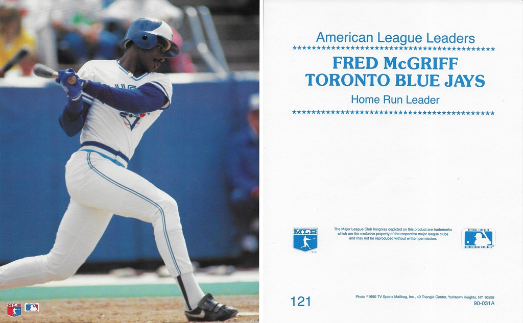 1990 TV Sports Mailbag - McGriff, Fred 121