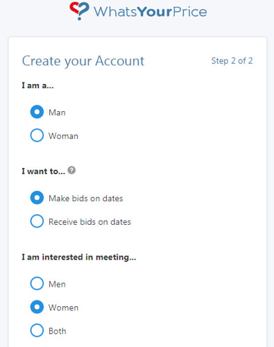 Creating account