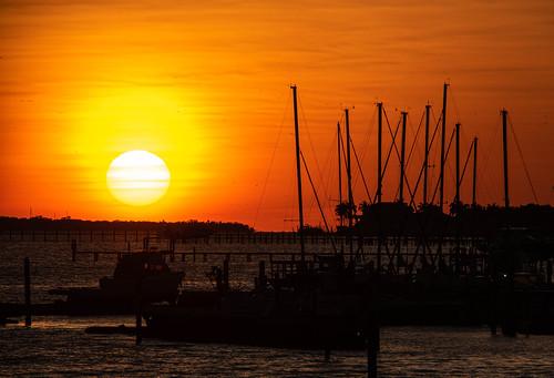 manatee river sun sunset florida marina boat boating manateeriver floridasunset landscape water silhouette