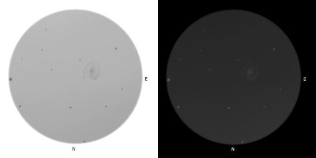 VCSE - Az M61 spirálgalaxis és benne az SN 2020jfo szupernóva vizuális észlelése - Rajz: Varga György