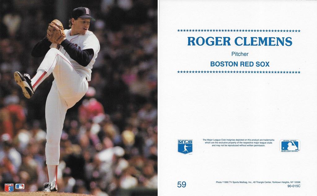 1990 TV Sports Mailbag - Clemens, Roger 59