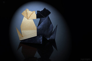 Origami 'Togetherness' / 'Me and my Shadow' (Fred Rohm) | by De Rode Olifant