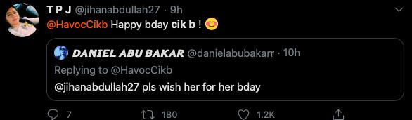 Nama Cik B Trending di Twitter Tengku Jihan Ucap Selamat Hari Jadi