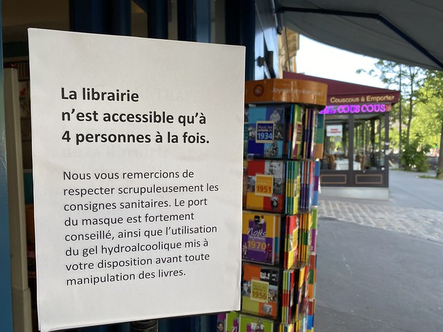 librairie distanciation