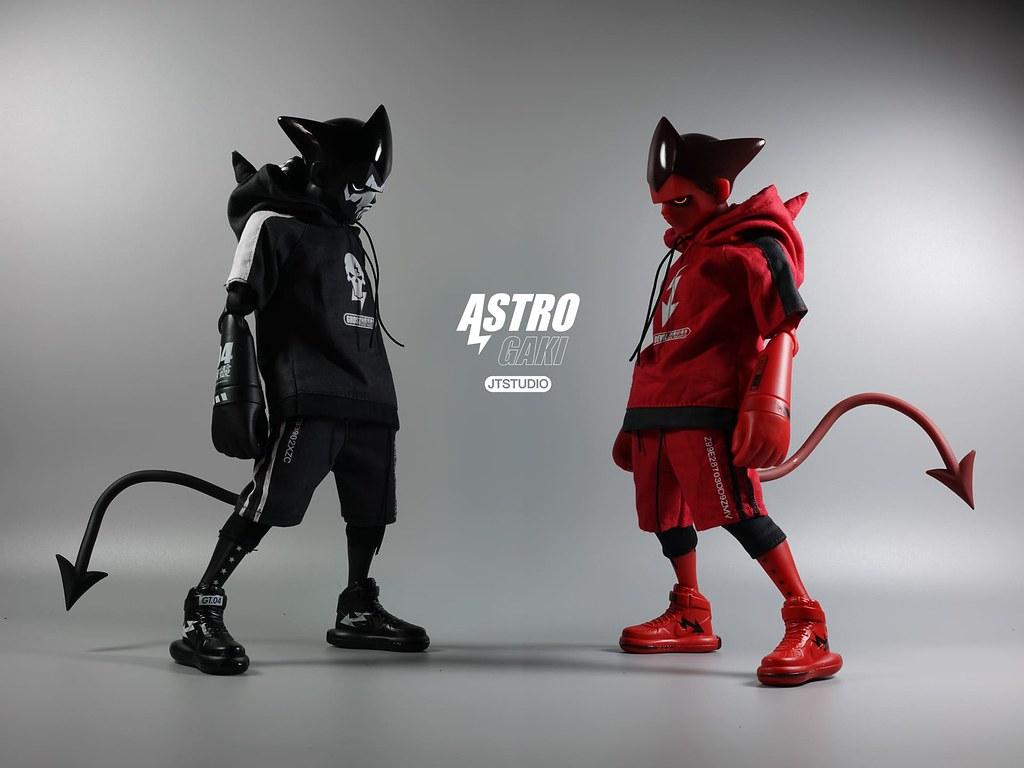 血紅的「惡魔破壞者」參戰! J.T Studio Street Mask 系列【Astro Gaki - 惡童 WM.03】1/6 比例人偶