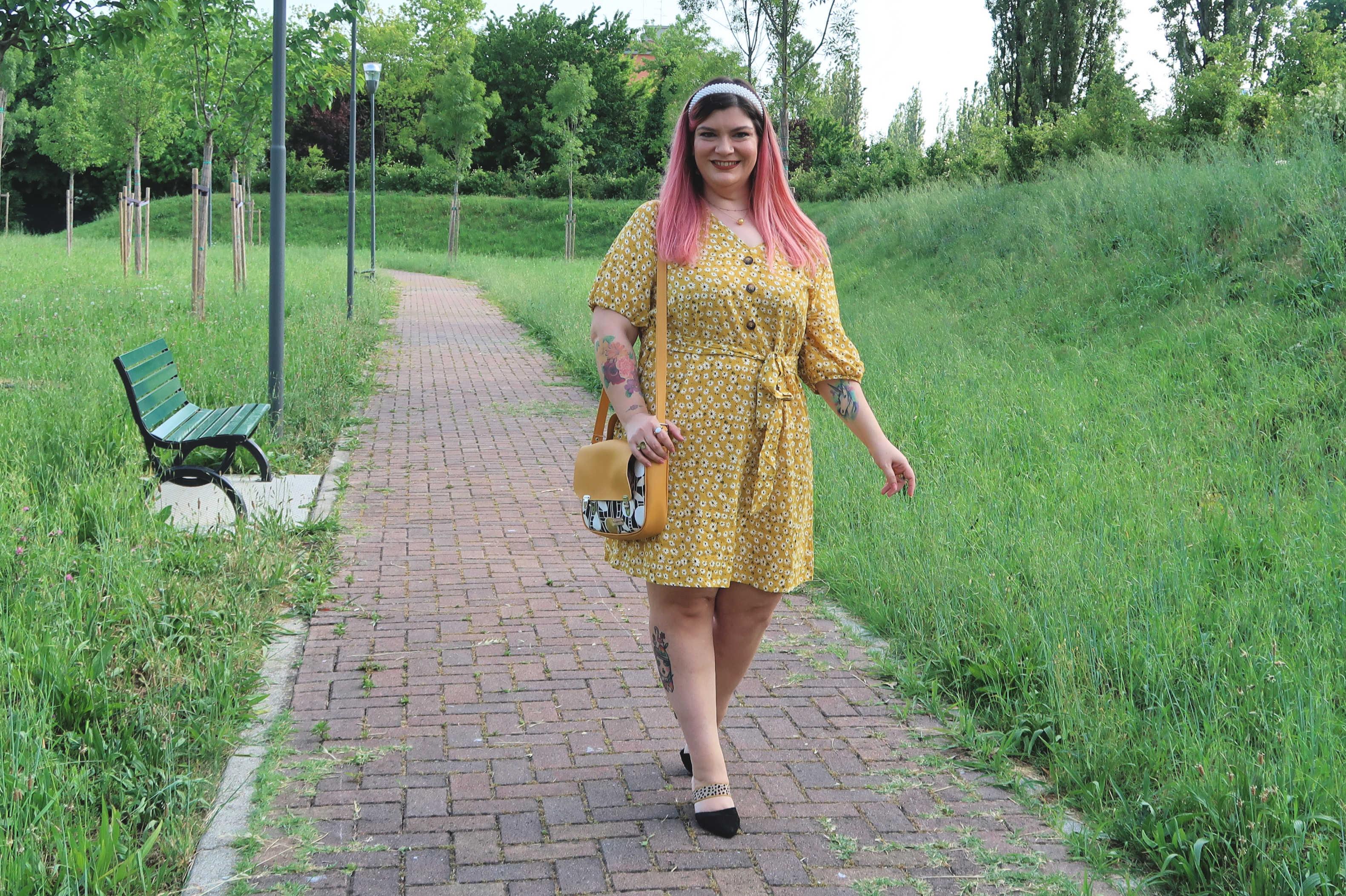 outfit curvy plus size giallo borsa carlottinalab (5)