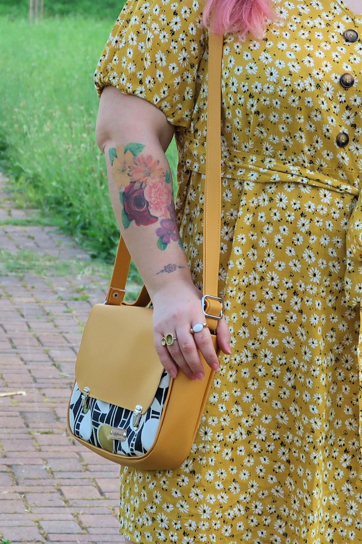 outfit curvy plus size giallo borsa carlottinalab (3)