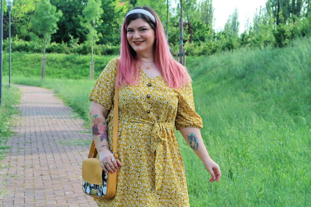 outfit curvy plus size giallo borsa carlottinalab (2)