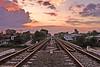 Railroad at Dusk