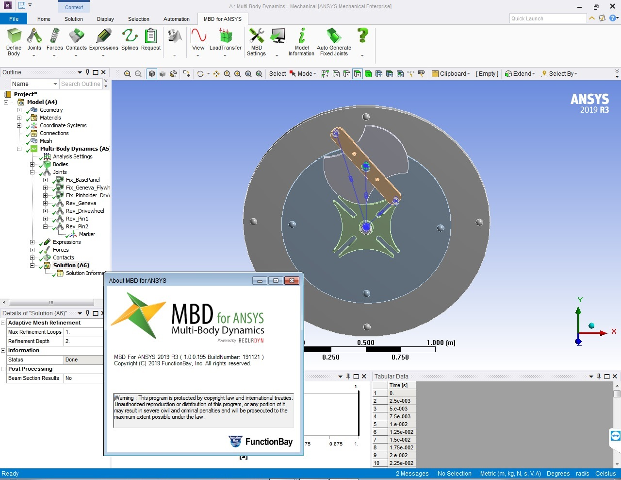 Working with FunctionBay Multi-Body Dynamics for ANSYS 2019 R3 full license