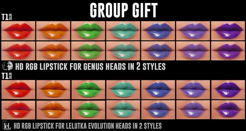 TOP1SALON - HD RGB LIPSTICK (Genus and Lelutka Evolution) GROUP GIFT!