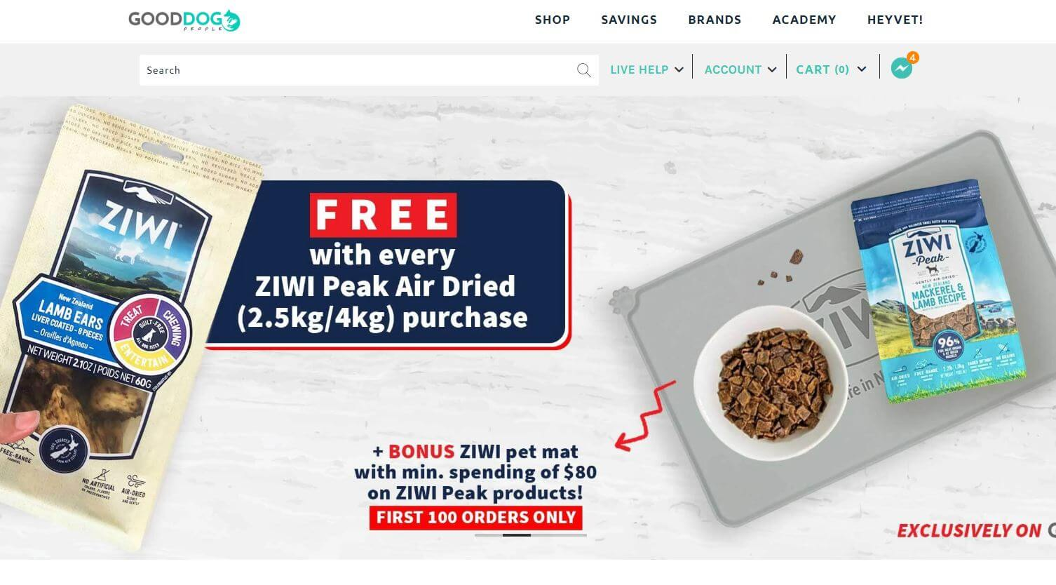 online pet store in Singapore