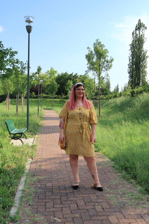 outfit curvy plus size giallo borsa carlottinalab (8)