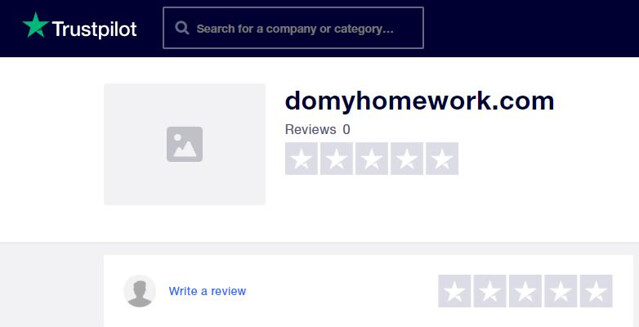 Trustpilot's review on DoMyHomework