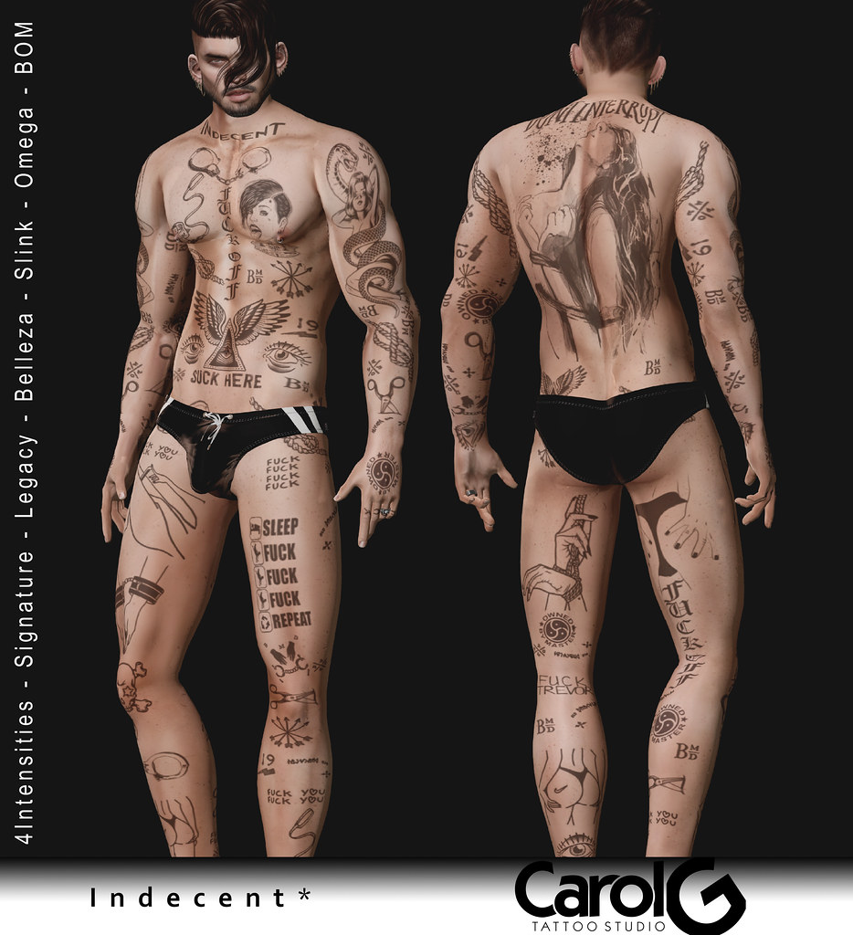 Indecent Male Full Body TaTToo [CAROL G]