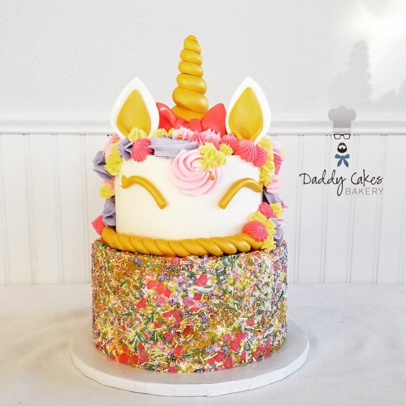 Colorful Unicorn Cake by Daddy Cakes Bakery