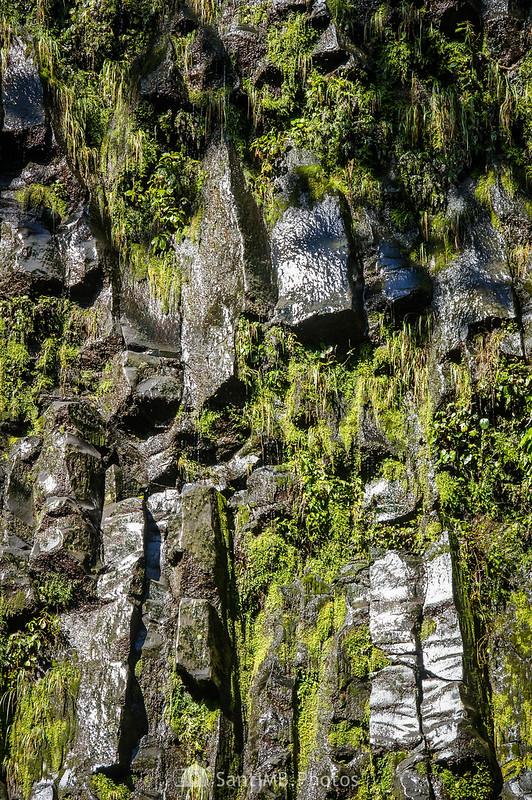 Roca basáltica cerca de la Catarata Río Fortuna