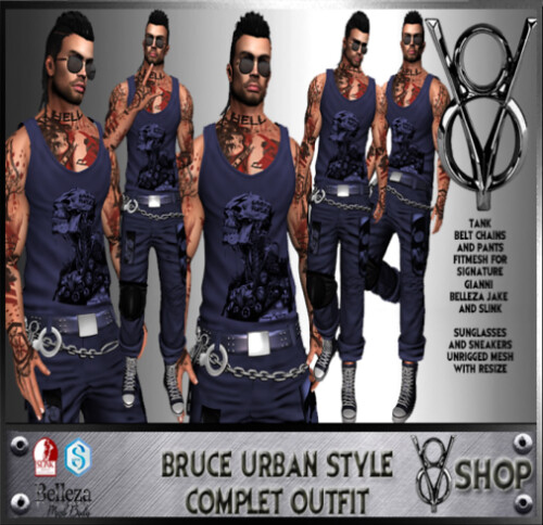 +V8 SHOP+ BRUCE URBAN STYLE COMPLET OUTFIT