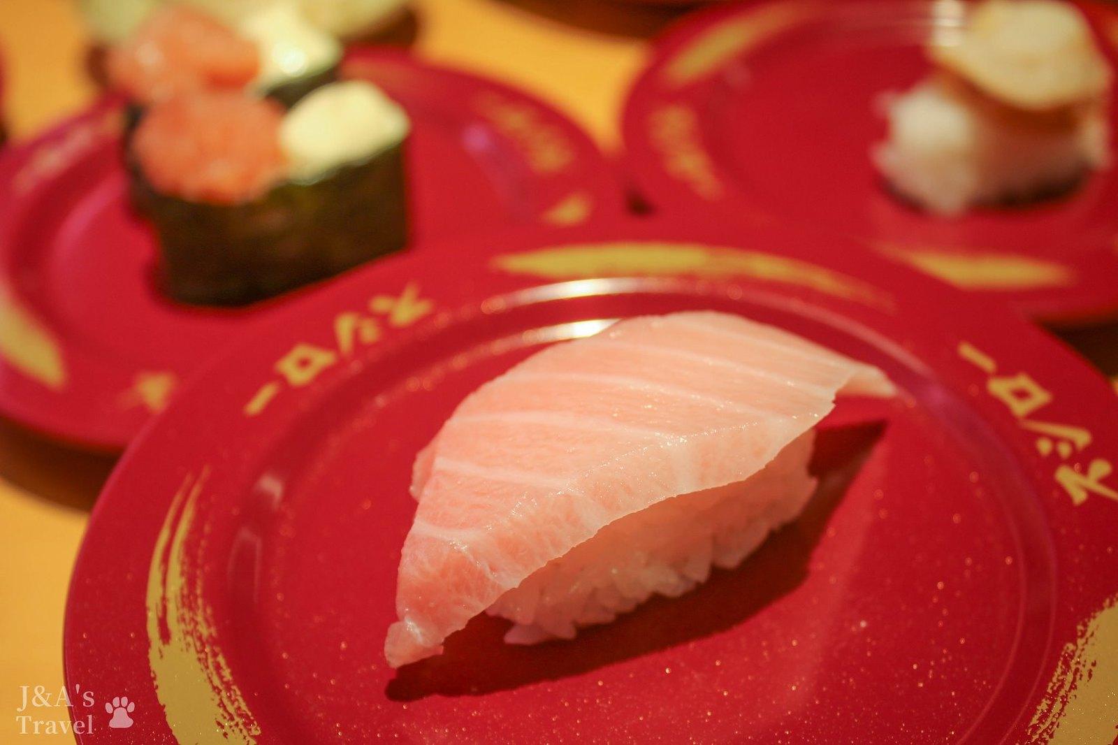 最新推播訊息:新開幕迴轉壽司,鮪魚大腹一貫只要40元就吃的到!