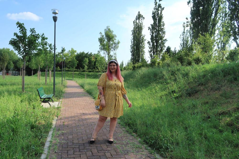 outfit curvy plus size giallo borsa carlottinalab (7)