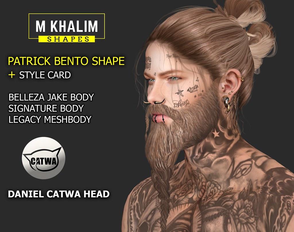 Patrick Shape for Daniel Catwa Head