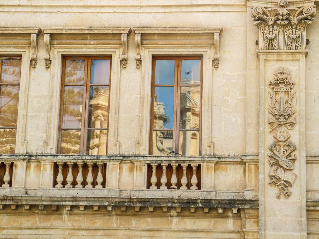 Decoración en las fachadas de Noto