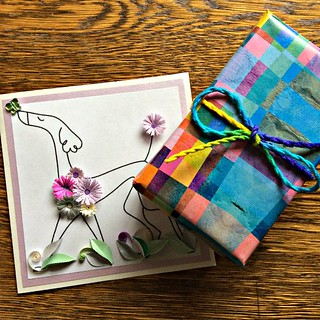 Quilled Dog Greeting Card