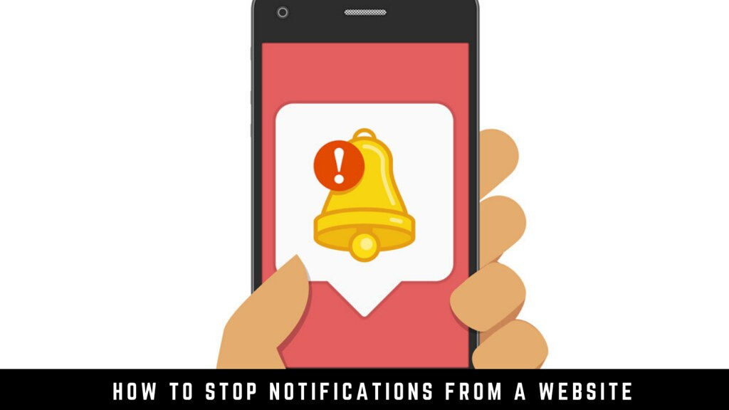 How to stop notifications from a website
