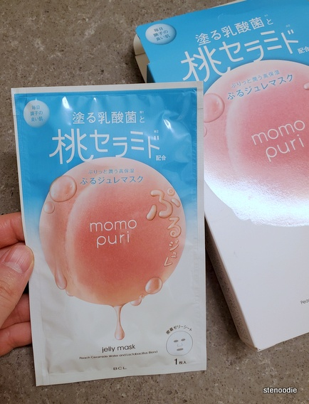 BCL Momo Puri Jelly Mask pouch
