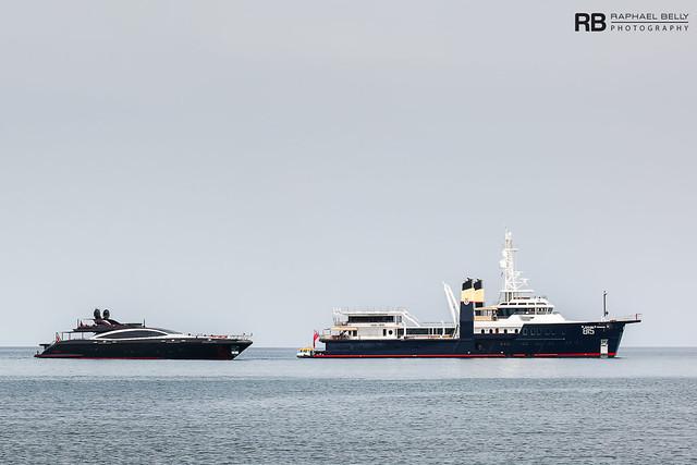Black Legend (Mangusta 165E) - 50m - Overmarine & Sherpa - 74m - Feadship