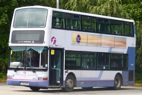 LT02 NVP 'First South West' No. 33127. Dennis Trident / Plaxton President on Dennis Basford's railsroadsrunways.blogspot.co.uk'