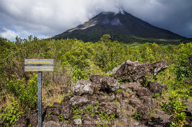 Volcán Arenal desde el Mirador de la Colada