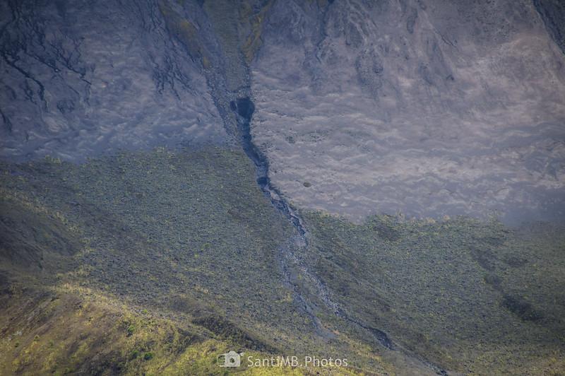 Ceniza de la ladera oeste del Volcán Arenal