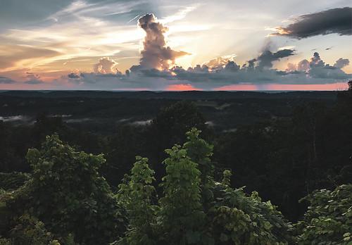 landscape sunset clouds colors trees nature canon usa